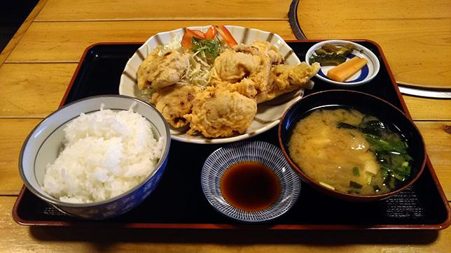 とり天定食 ¥650