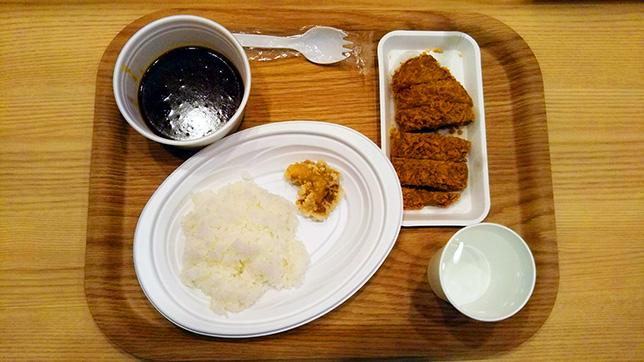 カレー+ロースカツ+唐揚げ ¥550