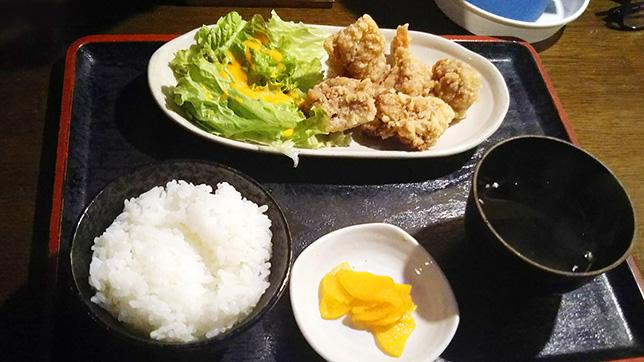 唐揚げ定食 ¥480