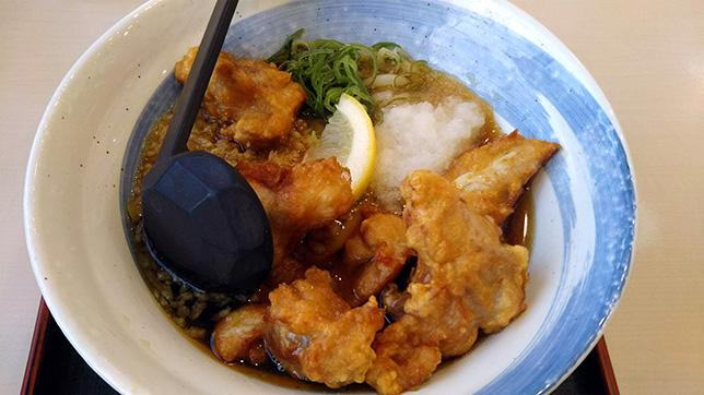 鶏天ぶっかけうどん(冷)¥550