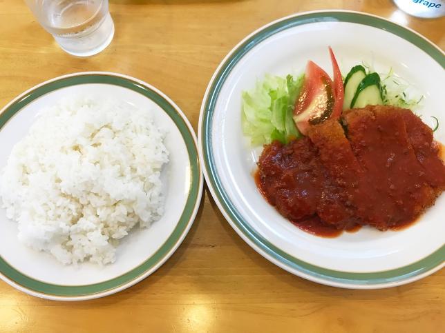 チキンカツランチ ¥700