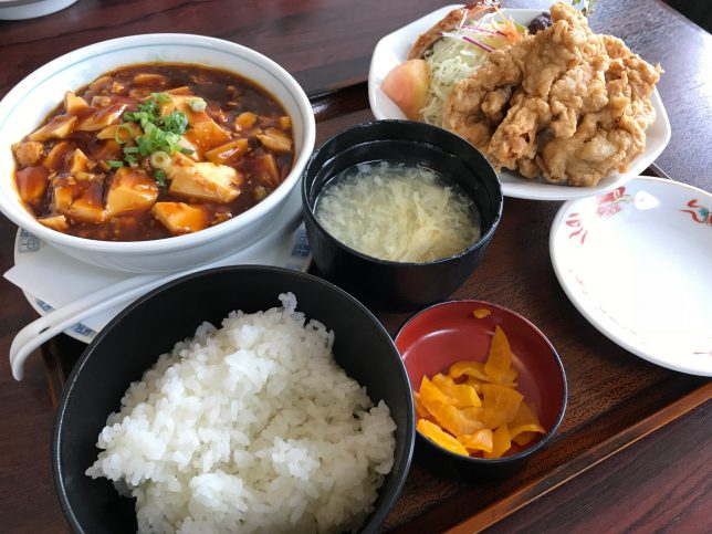 麻婆豆腐&とり天セット ¥1,960