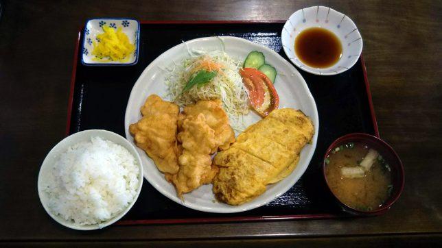 とり天定食 ¥750