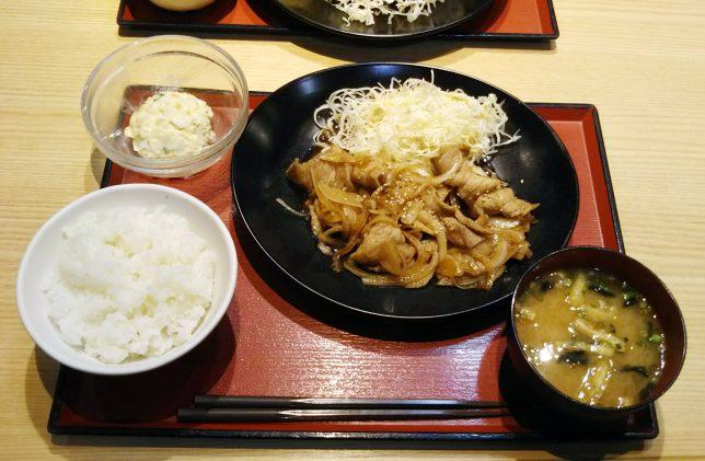 豚のしょうが焼き定食 ¥680