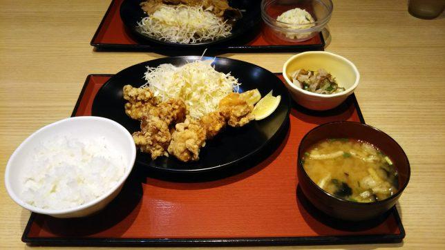中津唐揚げ定食 ¥720