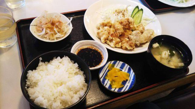 とり天定食 ¥700
