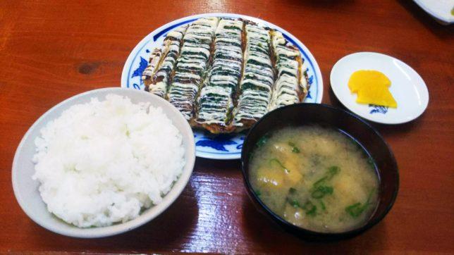 お好み焼き定食 ¥600