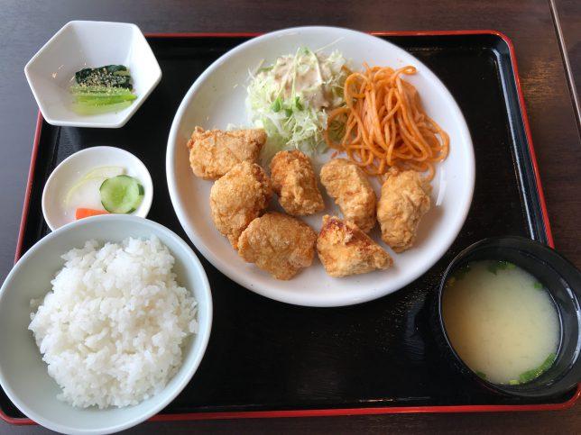 ヘルシーからあげ定食 ¥520