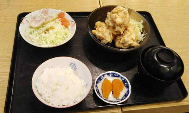 とり天定食 ¥670