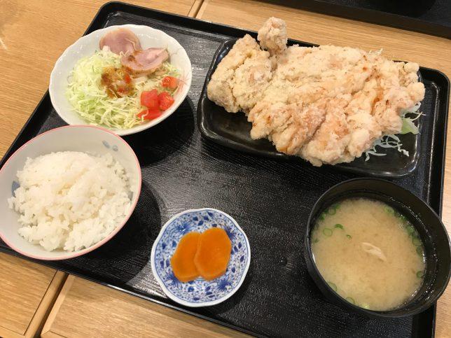 からあげ定食(ハネ) ¥700