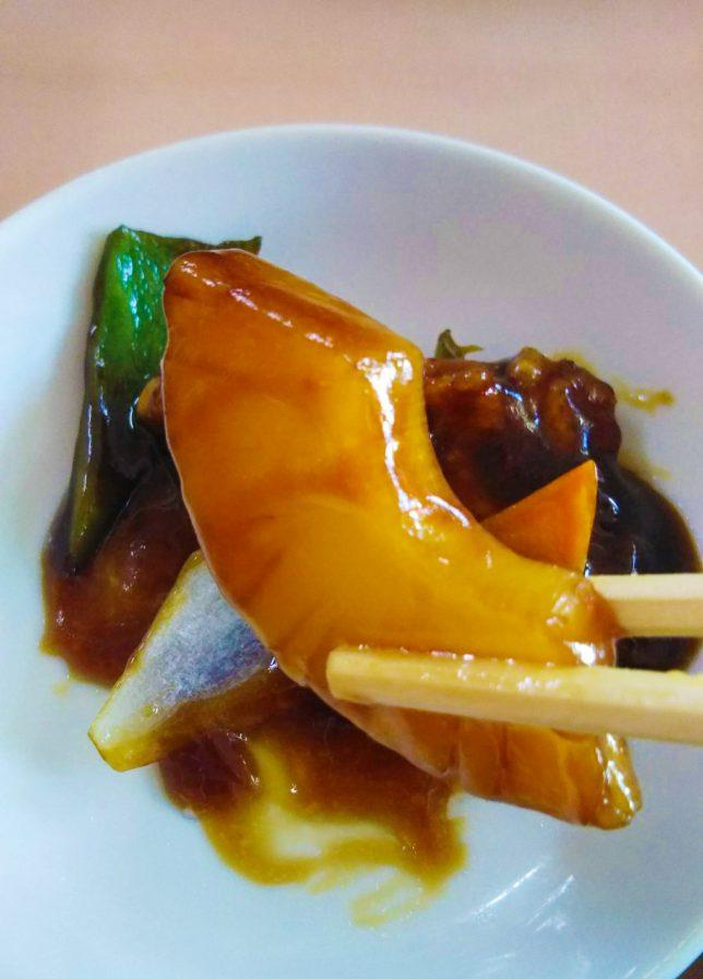 黒酢酢豚パイナップル