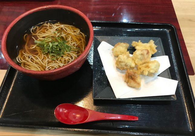かけ蕎麦ととり天 ¥650