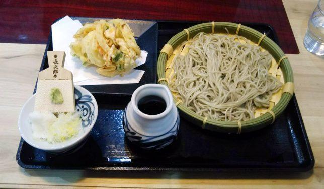 もり蕎麦と桜海老のかき揚げ ¥590