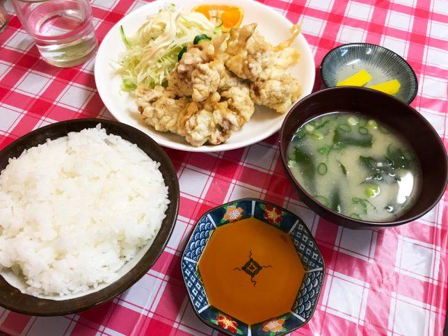 とり天定食 ¥860