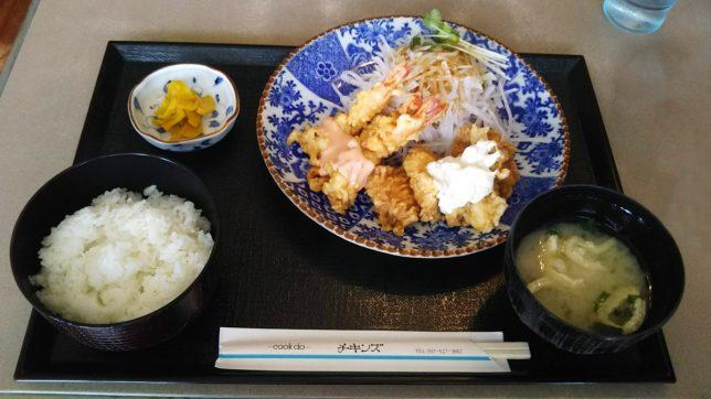 日替わりランチ(チキン南蛮・海老南蛮) ¥650