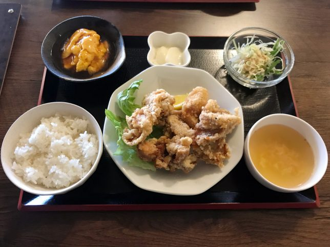 Aセット(唐揚げ) ¥800