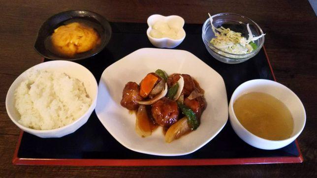 Aセット(酢豚) ¥800