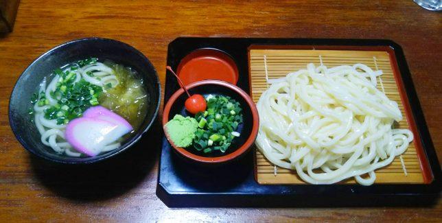 ざるうどん+かけうどん(小) ¥500