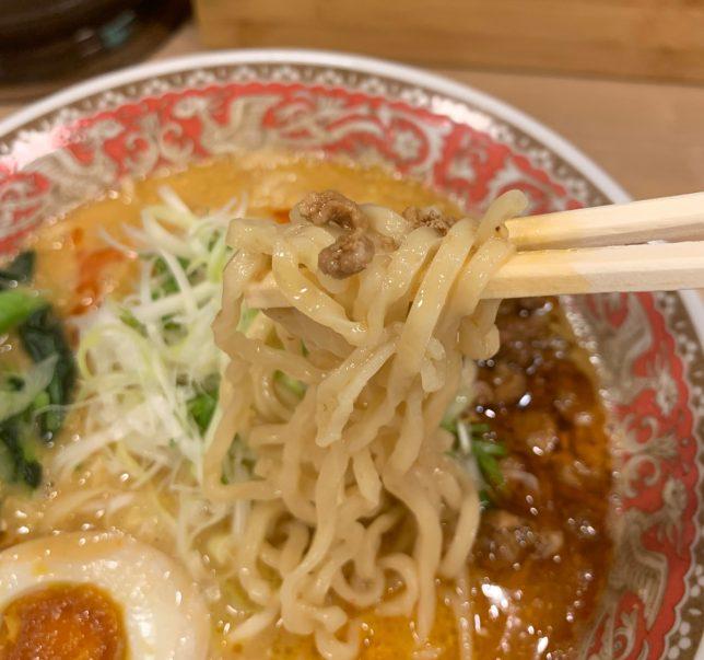 赤担々麺アップ