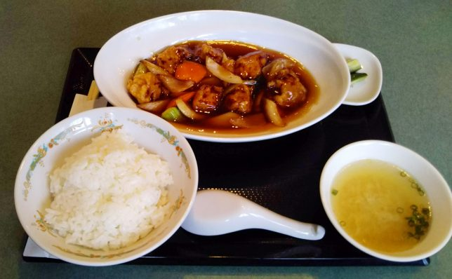 酢豚定食 ¥790