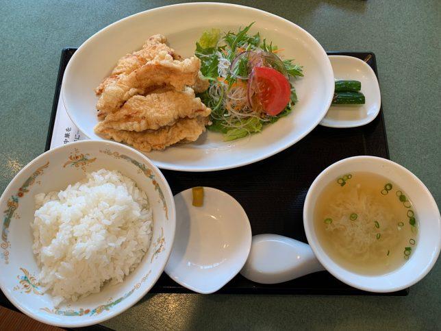 鳥天定食 ¥780