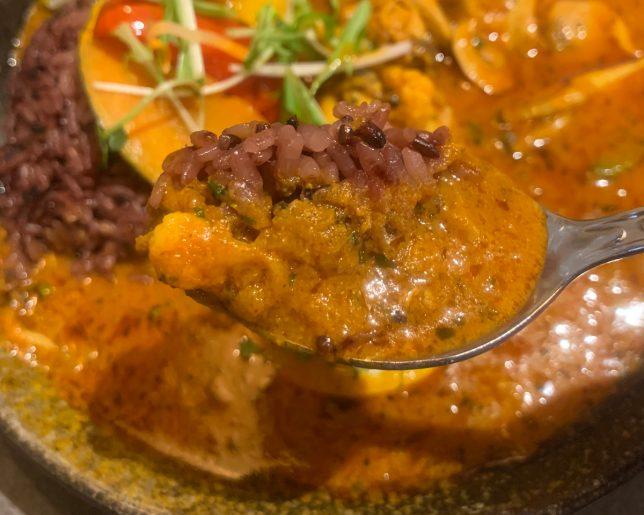 野菜カレー黒米