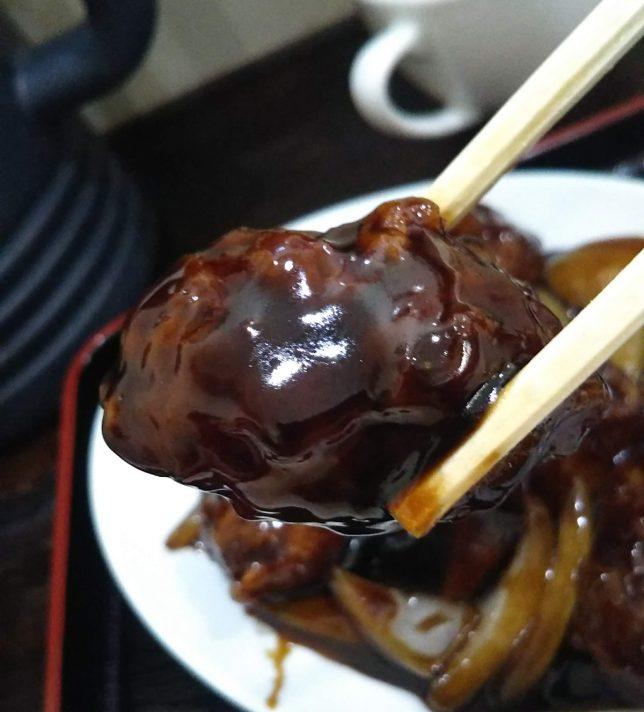 黒酢酢豚アップ2