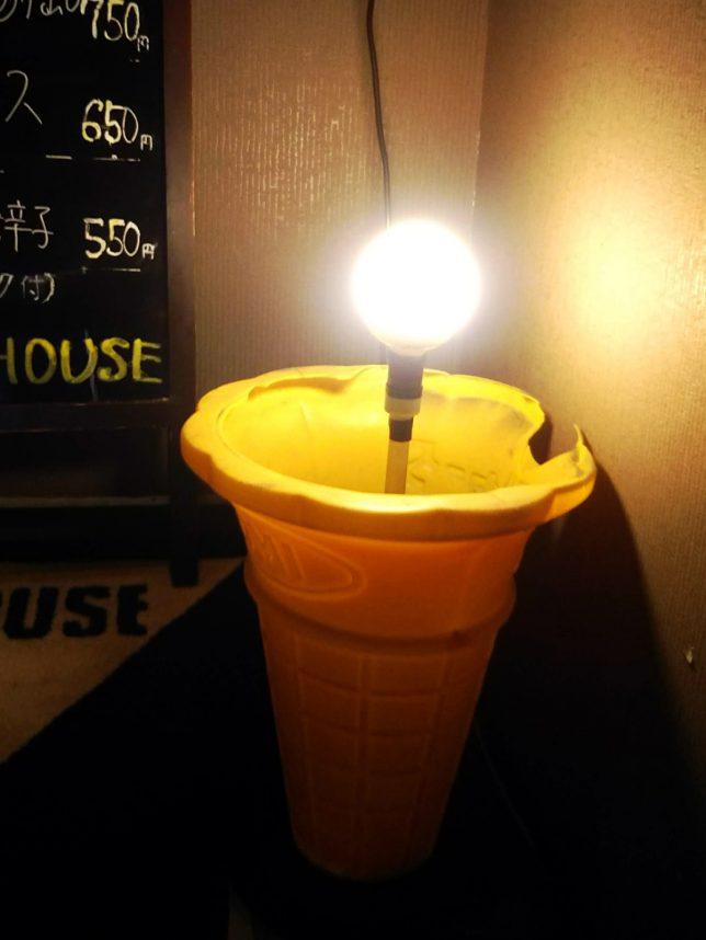 ソフトクリーム照明