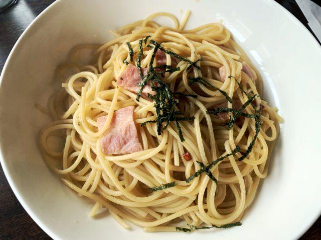 スパゲティー ベーコンと赤唐辛子 ¥550