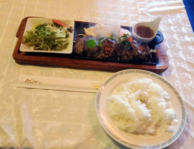 本日のランチ ひとくちステーキ ¥680