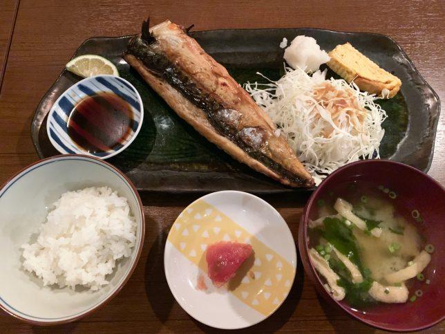 炭火焼き塩さば定食 ¥730