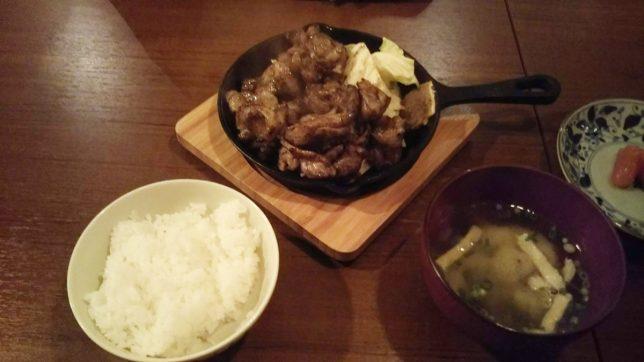 地鶏の炭火焼定食 ¥840