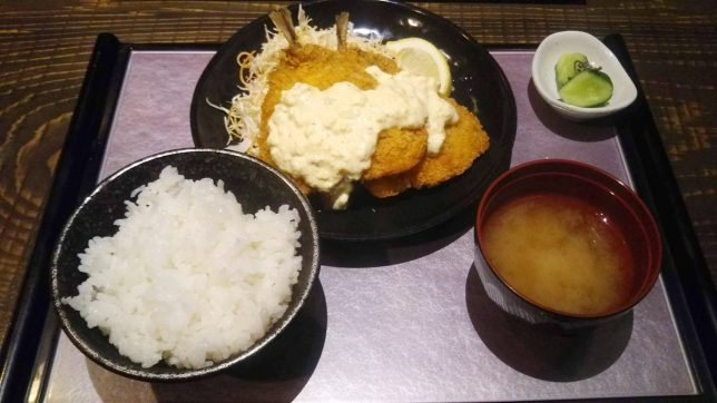 アジフライ定食 ¥500