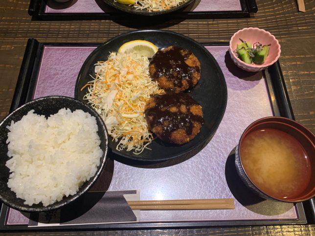 マグロメンチ定食 ¥700
