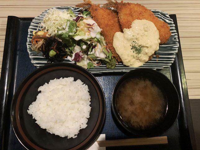 さくさくアジフライ定食 ¥700