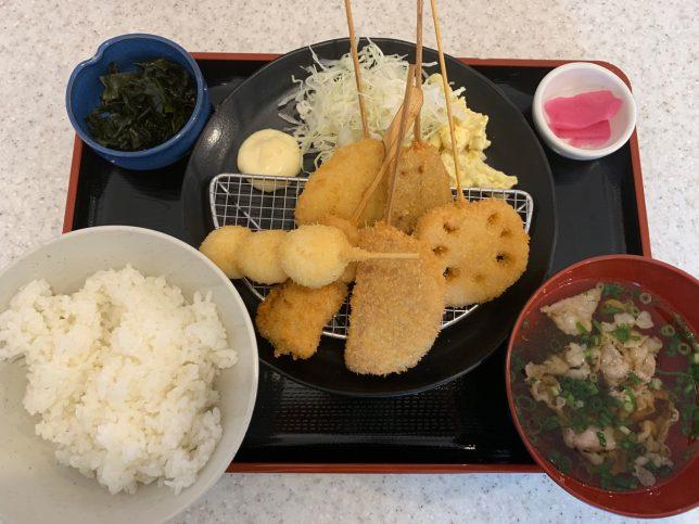 串カツ定食 ¥787