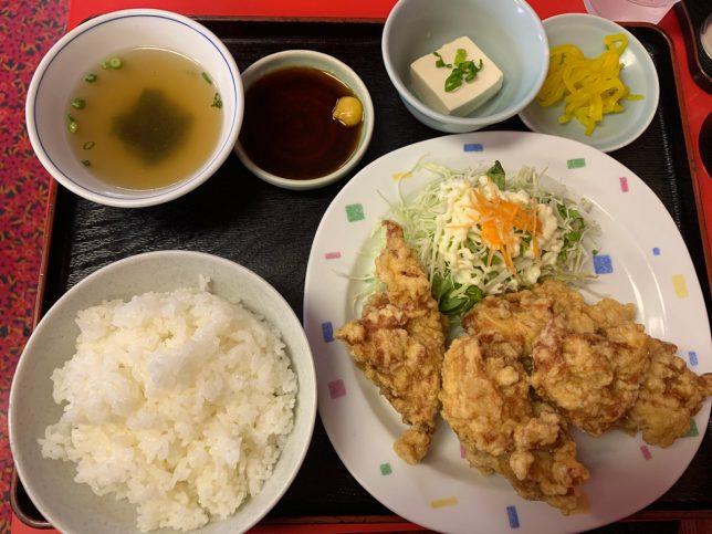 鶏天定食 ¥750