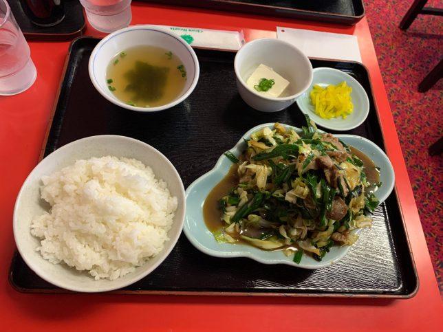 ニラ豚定食 ¥750