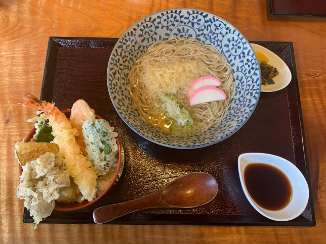 ミニ天丼セット(かけ) ¥1,210