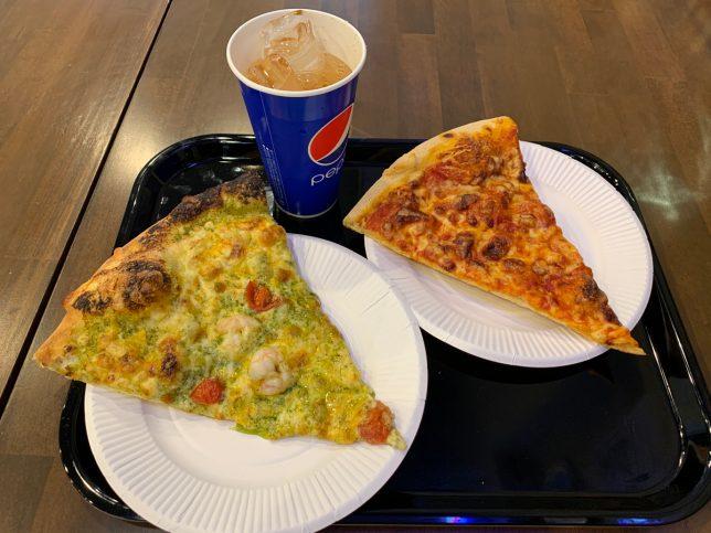ランチセット(お好みのピザ+チーズピザ+ドリンク ¥900)