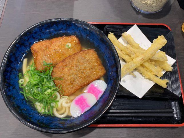 鶏つくねうどん(ごぼう天トッピング)¥620