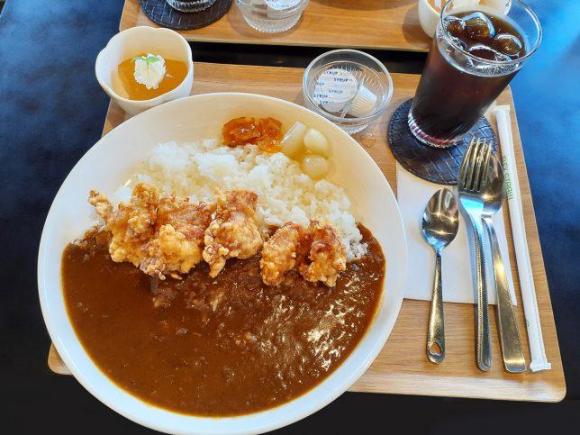 大分カレーライス(並) ¥650+若鶏唐揚げ¥200